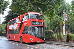 The red double decker bus is an iconic symbol of London