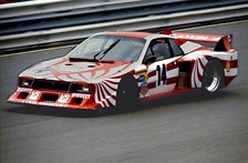 A Lancia Beta Montecarlo contesting the 1980 World Championship for Makes in the Group 5 category.