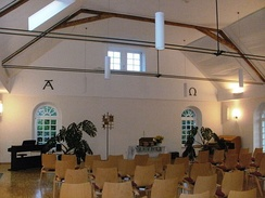 Interior of the Mennonite Church Friedelsheim, Germany