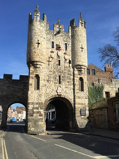 The southern entrance to York, Micklegate Bar