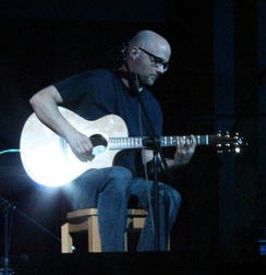 Moby performing at the David Lynch Weekend, Maharishi University of Management in Fairfield, Iowa, April 26, 2008.