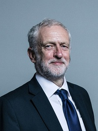 Jeremy Corbyn, current leader of the party.
