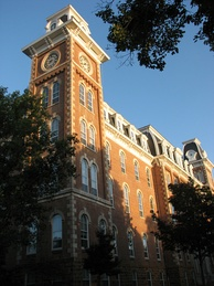 Old Main on the University of Arkansas campus.
