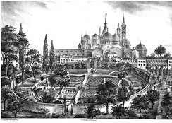 A 16th century print of the Botanical Garden of Padova (Garden of the Simples) — the oldest academic botanic garden that is still in its original location