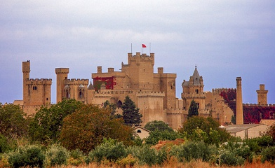 Olite Parador located inside the old Royal Palace of the Kings of Navarra.