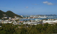 The port in Sint Maarten after Hurricane Irma