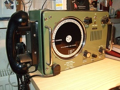 VHF marine radio on a ship