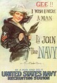 Recruiting poster made by and for the United States Navy c.1917
