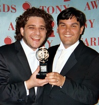 Robert Lopez (right, shown with Avenue Q partner Jeff Marx) became the twelfth person to win all four awards, the first Filipino and Asian and the youngest person to achieve this feat, the fastest to achieve the feat (10 years), and the only person to achieve multiple EGOTs.