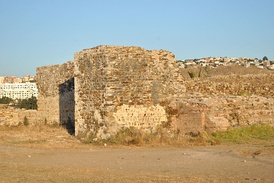 Surviving parts of the wall of Roman Tingis