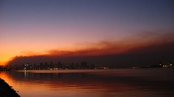 San Diego against Witch Creek Fire smoke