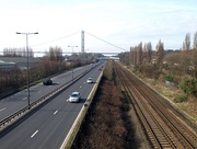 The railway line near the Humber Bridge