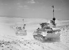 Vickers light tanks in the desert