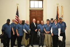 United Mine Workers meeting with Congressmember Tom O'Halleran in 2020.