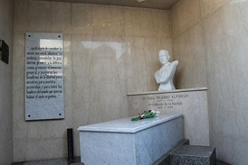 Tomb of President Raúl Alfonsín, taken after a state funeral.