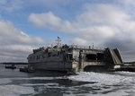 USNS Trenton gets underway from Joint Expeditionary Base Little Creek-Fort Story. (30993944493).jpg