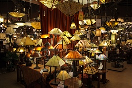Various examples of light fixtures throughout history