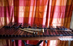 Xylophone with different types of mallets