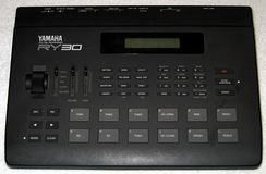 A Yamaha RY30 Drum Machine
