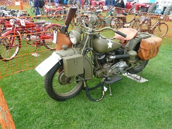 1942 Indian Scout 500, the 741, not used by the US Army, but supplied under the Lend-Lease program to Commonwealth allies.