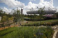 Olympic gardens in front of the River Lea and its tributary the City Mill River