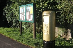 A post box outside the National Spinal Injuries Centre in Stoke Mandeville was painted gold in honour of the village's role in the history of the Paralympic movement.