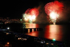 Over one million visitors crowd the streets and beaches of Valparaiso each New Year's Eve.