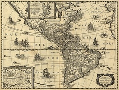 A 17th-century map of the Americas