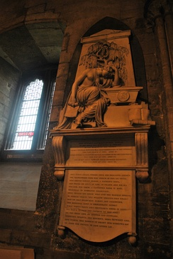 "There is a plaque to Anna Seward (spelled ""Ann"") in Lichfield Cathedral."