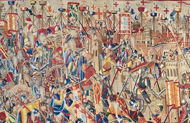 Portuguese naval and land forces in the Conquest of Asilah, 15th century.