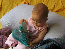 Developmental psychologists would engage a child with a book and then make observations based on how the child interacts with the object.