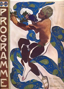 Program for the Ballets Russes by Leon Bakst (1912)