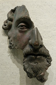"Marcus Aurelius bronze fragment, Louvre, Paris: ""To move from one unselfish action to another with God in mind. Only there, delight and stillness."""