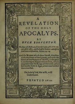 Title page (1610) of A Revelation of the Holy Apocalyps