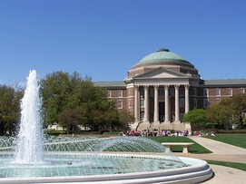 Dallas Hall at Southern Methodist University in University Park, Texas