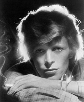 David Bowie photographed in 1974