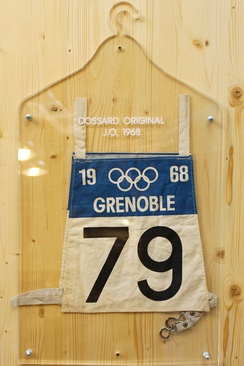 Bib used during the games.