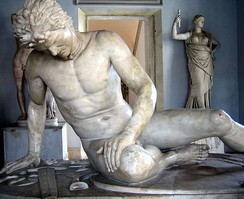 The Dying Galatian was a famous statue commissioned some time between 230–220 BC by King Attalos I of Pergamon to honor his victory over the Celtic Galatians in Anatolia.