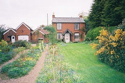 Classical composer Sir Edward Elgar was born in this house in Broadheath, Worcestershire, currently used as the Elgar Birthplace Museum.