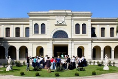 Immigration Museum of the State of São Paulo in the neighborhood of Mooca, in São Paulo city. The Italian Brazilians are 15% of the population and the largest Italian community outside Italy.[379]
