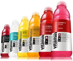 Six different kinds of VitaminWater