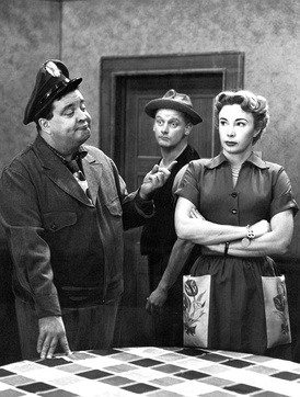 Jackie Gleason, Art Carney, and Audrey Meadows in The Honeymooners.