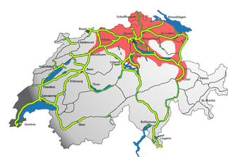 "Much of the eastern part of the plateau has become part of the  ""Greater Zurich Area""."