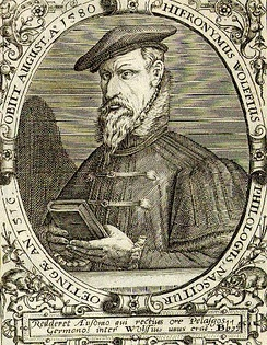 Hieronymus Wolf was a 16th-century German historian. After coming into contact with the works of Laonicus Chalcondyles, he also went ahead with identifying Byzantine historiography for the purpose of distinguishing medieval Greek from ancient Roman history.