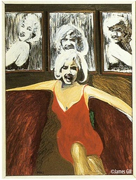 Left panel from pop artist James Gill's painting Marilyn Triptych (1962)