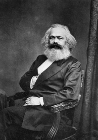 Photograph of Karl Marx facing the viewer