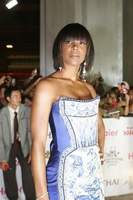 Kelly Rowland on the red carpet at MTV Asia Awards 2006 in Bangkok, Thailand.