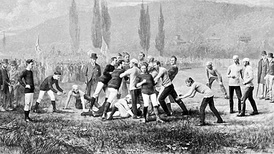 The Harvard v McGill game of 1874