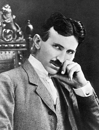 Nikola Tesla, best known for his contributions to the design of the modern alternating current (AC) electricity supply system.[345]
