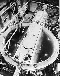 Nautilus's reactor core prototype at the S1W facility in Idaho